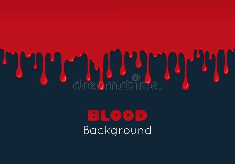 Fondo con i gocciolamenti di sangue royalty illustrazione gratis
