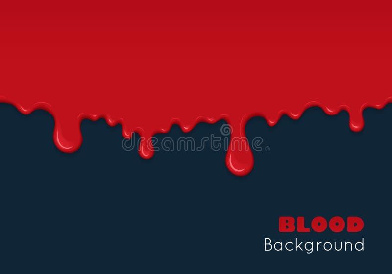 Fondo con i gocciolamenti di sangue illustrazione vettoriale