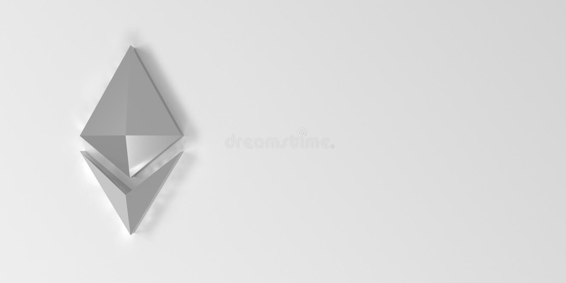 Fondo con il simbolo d'argento di ethereum rappresentazione 3d royalty illustrazione gratis