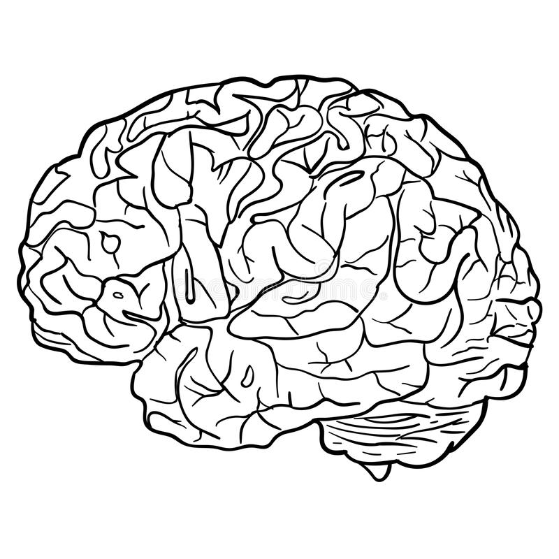Fondo con il vettore di concetto del cervello royalty illustrazione gratis