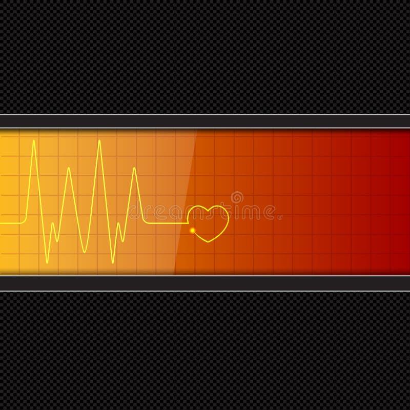 Fondo con il video di impulso del cuore royalty illustrazione gratis