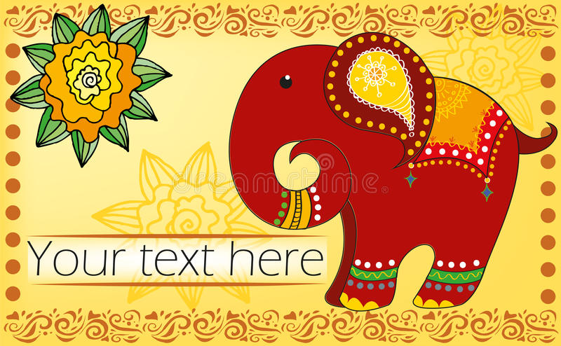 Fondo con l'elefante royalty illustrazione gratis