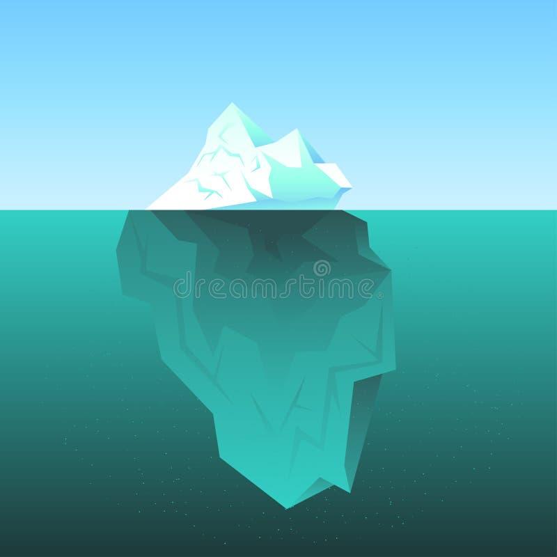 Fondo con l'iceberg nel mare royalty illustrazione gratis