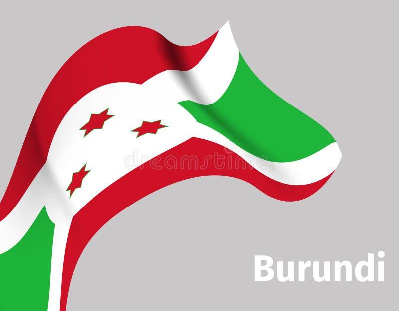 Fondo con la bandera ondulada de Burundi ilustración del vector