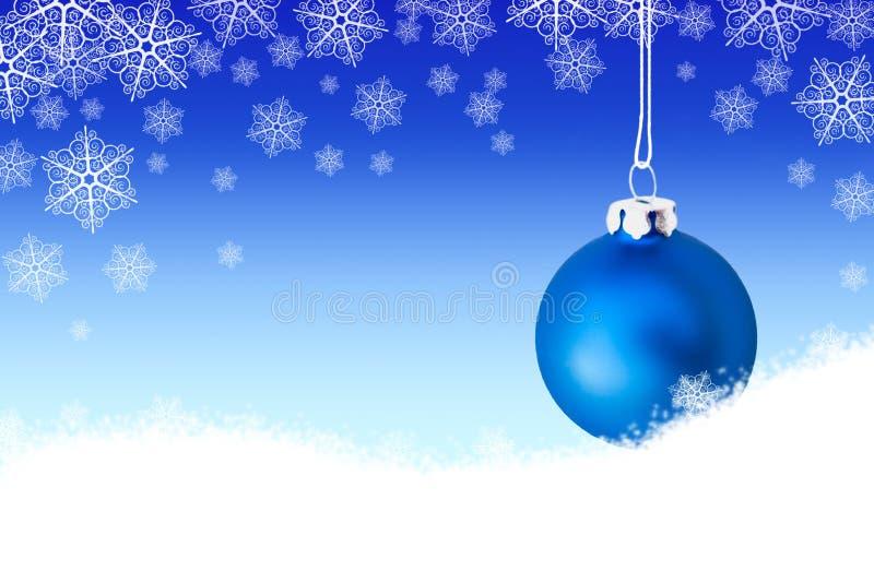 Fondo con la bola azul de la navidad en la nieve stock de - Bola nieve navidad ...