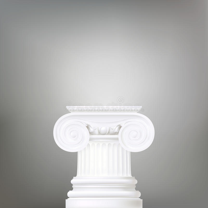 Fondo con la colonna ionica royalty illustrazione gratis