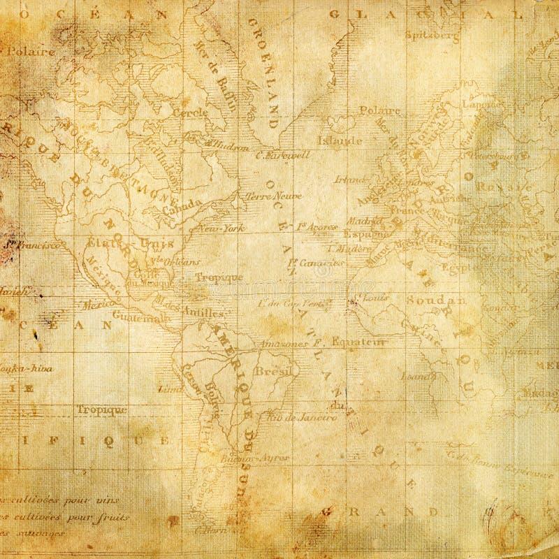 Fondo con la correspondencia vieja de las Américas ilustración del vector