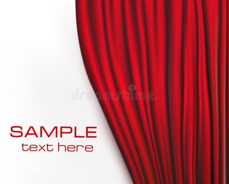 Fondo con la cortina roja del terciopelo. ilustración del vector