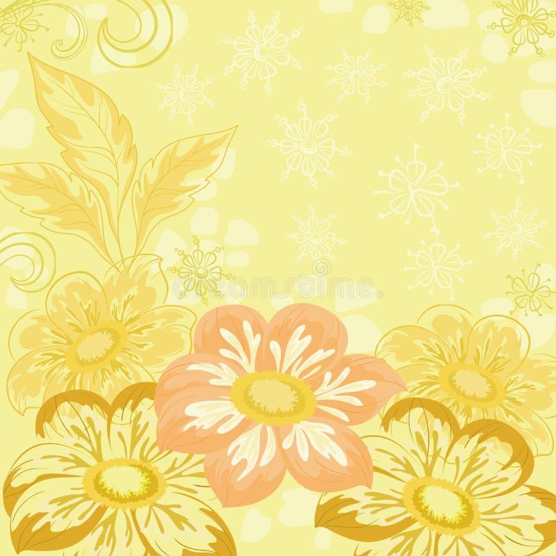 Fondo con la dalia de las flores ilustración del vector