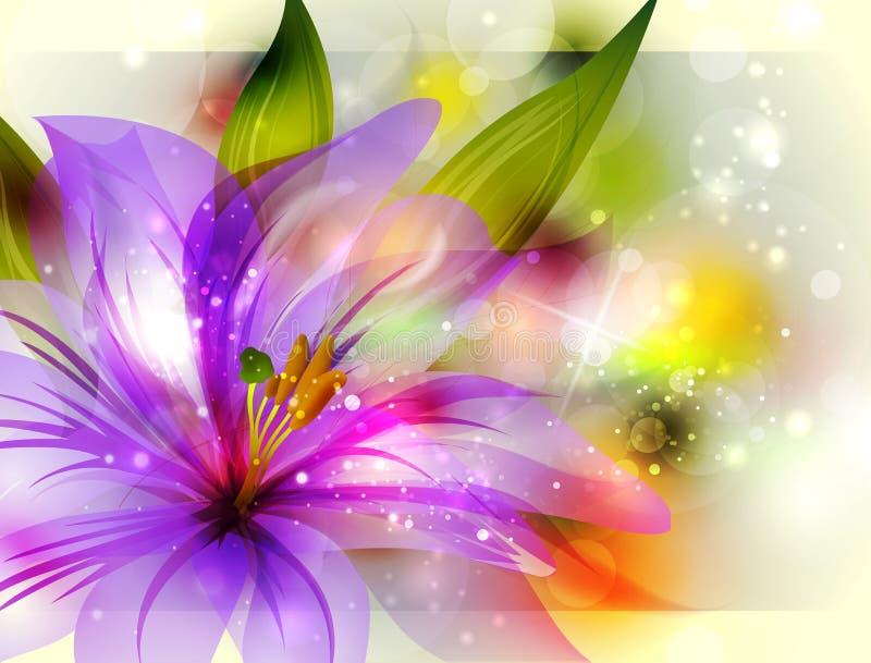 Fondo con la flor abstracta ilustración del vector