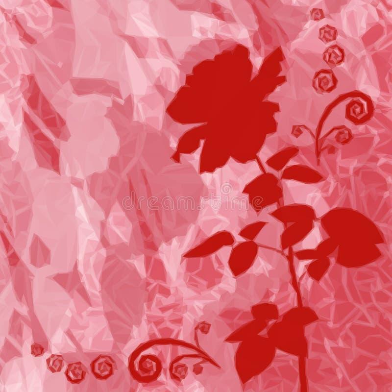 Fondo con la flor Rose Silhouette ilustración del vector