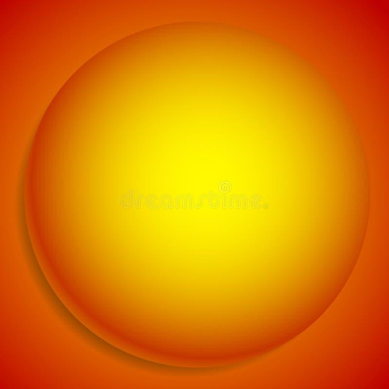 Fondo con la sfera 3d Llustration monocromatico astratto della a illustrazione vettoriale