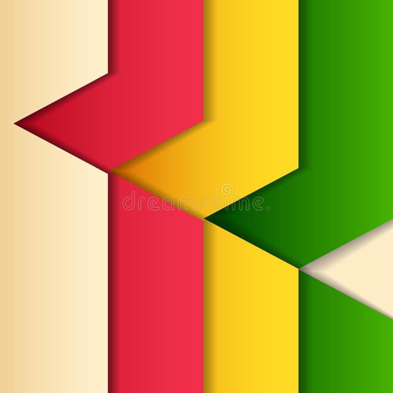 Fondo con la tira multicolora stock de ilustración