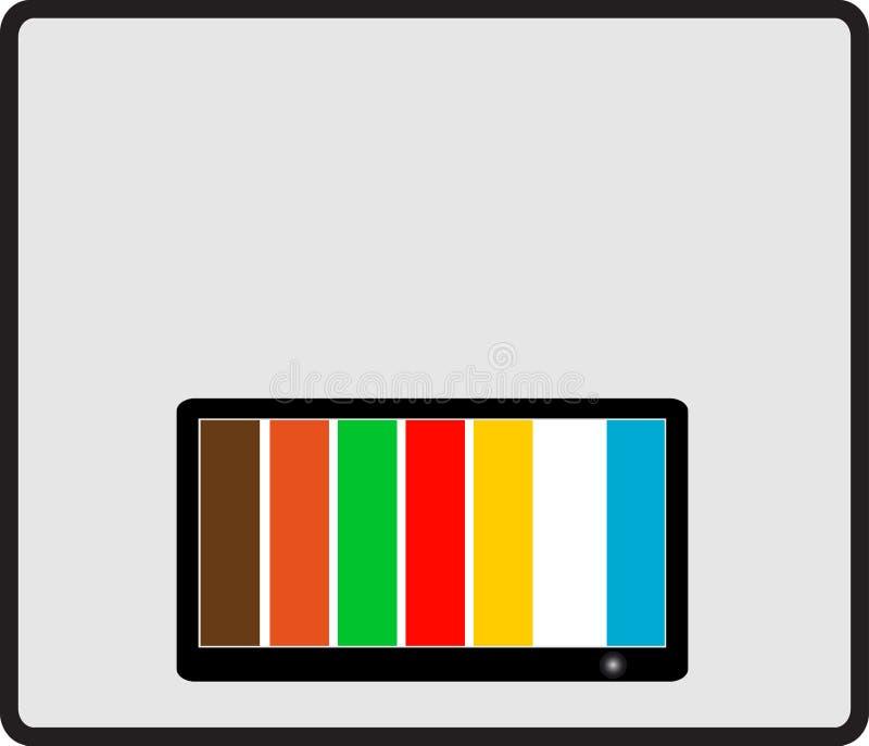 Fondo con la TV colorida libre illustration