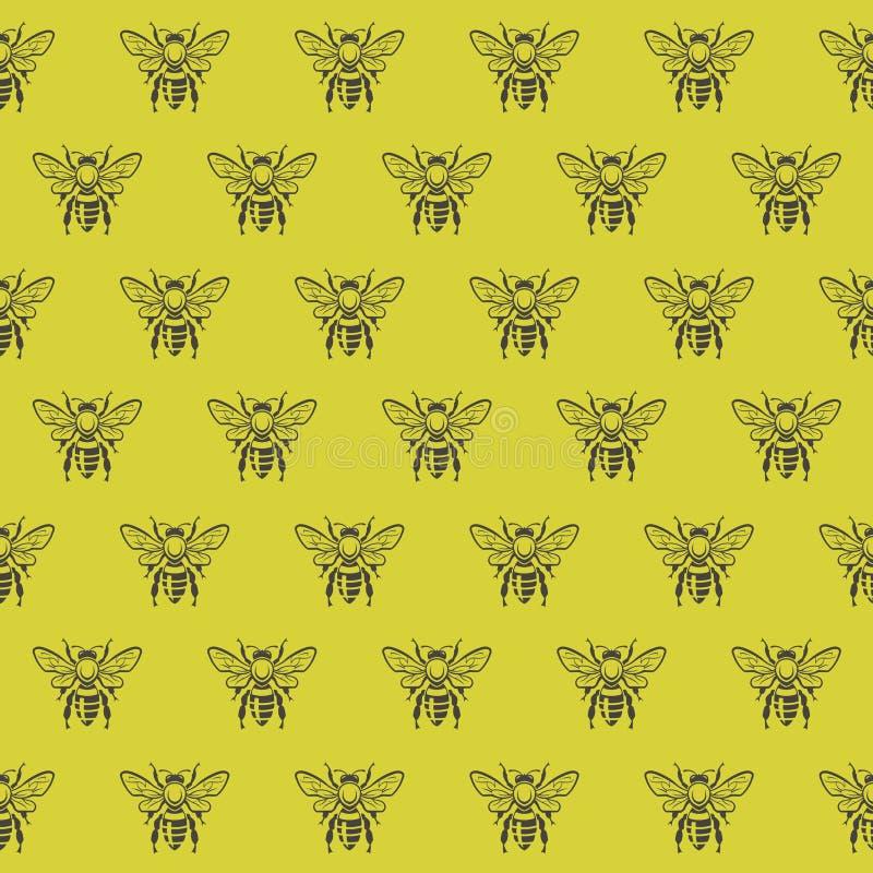 Fondo con las abejas libre illustration