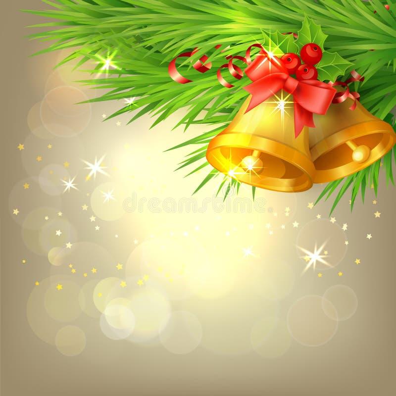 Fondo con las alarmas de la Navidad ilustración del vector