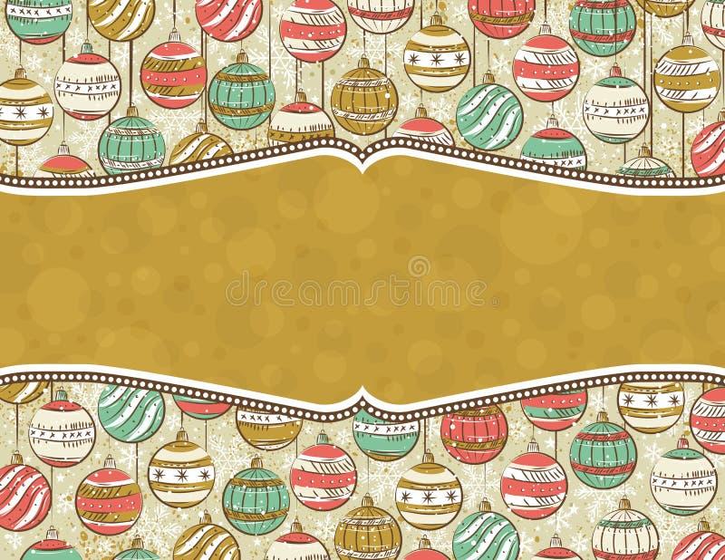 Fondo con las bolas de la Navidad,   stock de ilustración