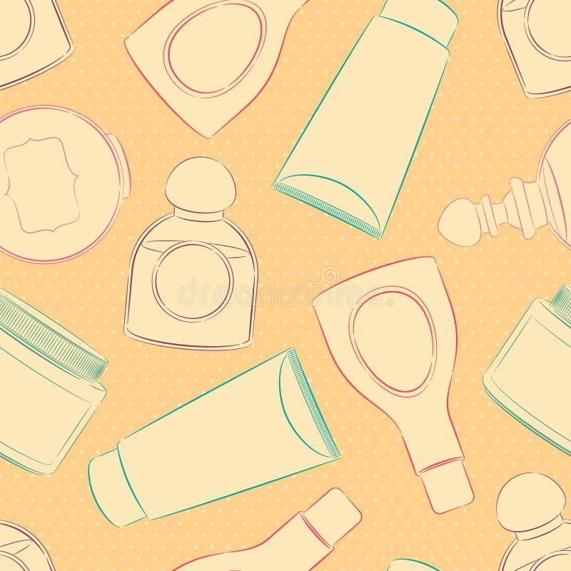 Fondo con las botellas stock de ilustración