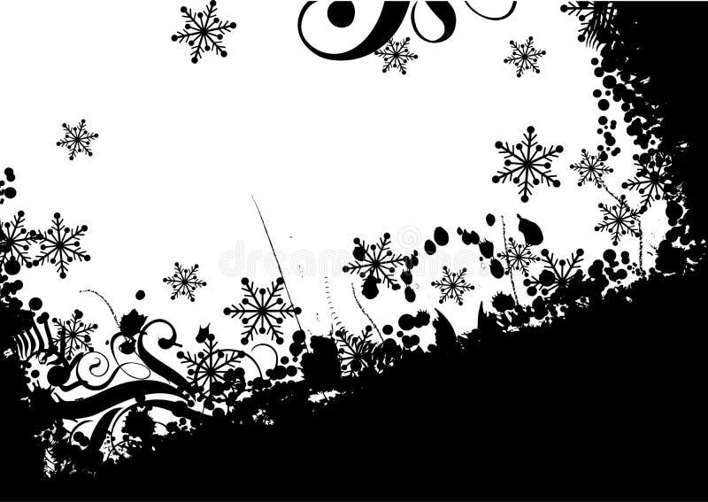Fondo con las chucherías, vector del grunge de la Navidad ilustración del vector