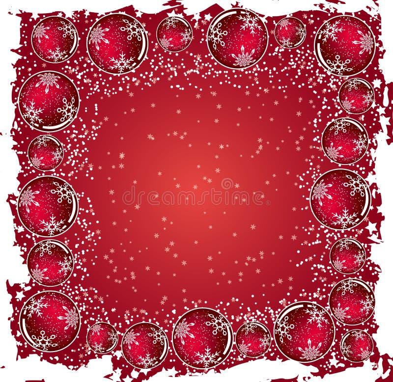 Fondo con las esferas, vector del grunge de la Navidad libre illustration