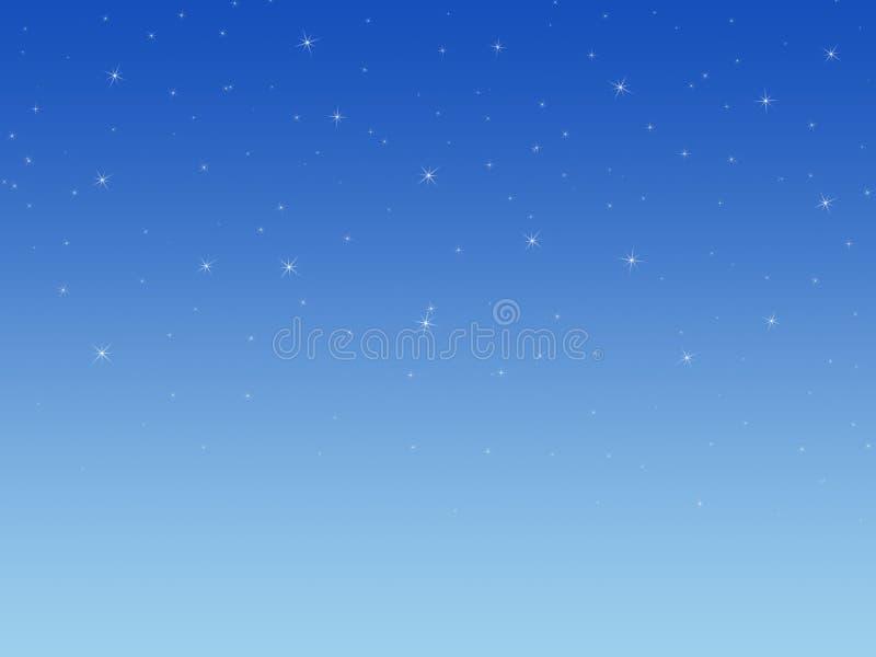 Fondo con las estrellas brillantes. stock de ilustración