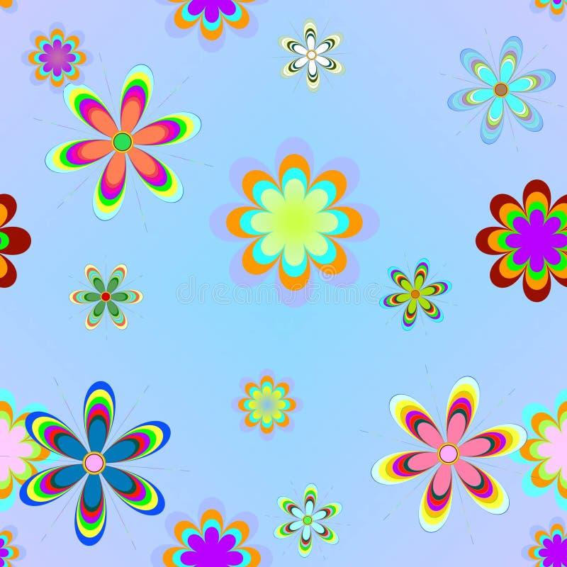 Fondo con las flores de los colores stock de ilustración