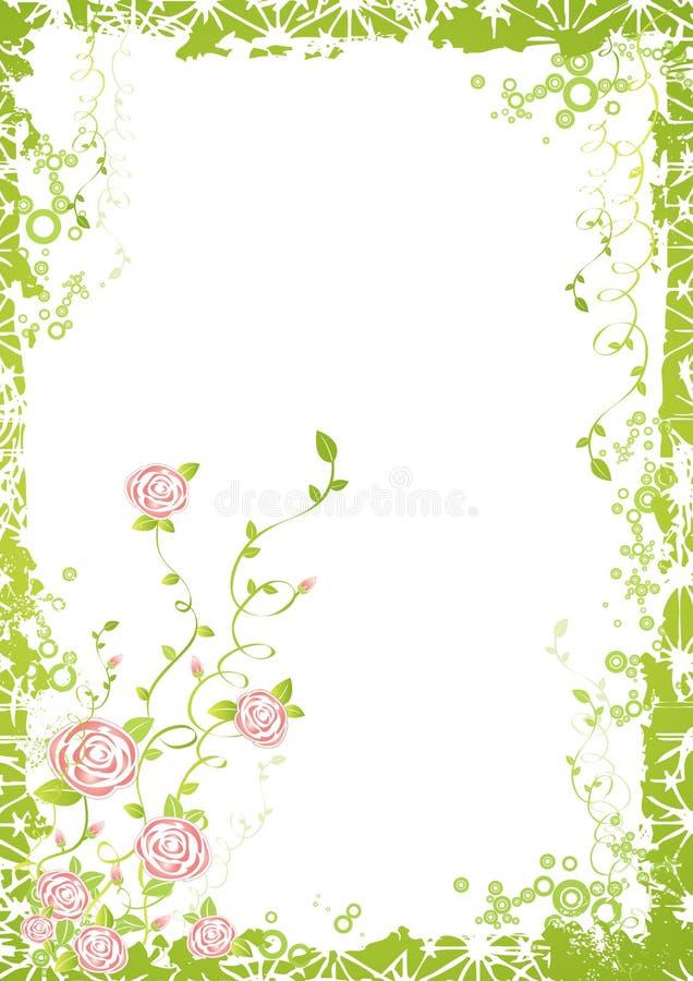 Fondo con las flores de Rose stock de ilustración