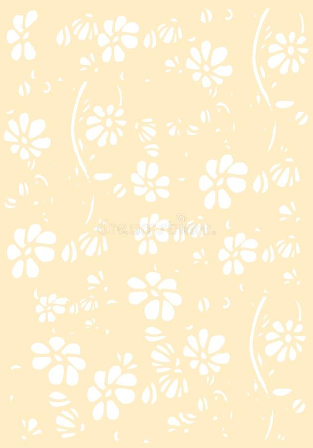 Fondo con las flores, el modelo del ejemplo ilustración del vector