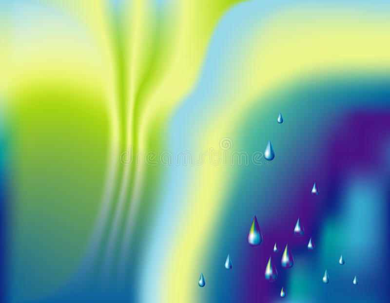 Fondo con las gotas de agua stock de ilustración