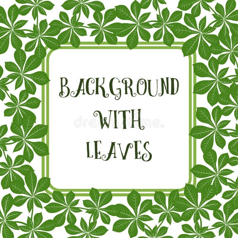 Fondo con las hojas libre illustration
