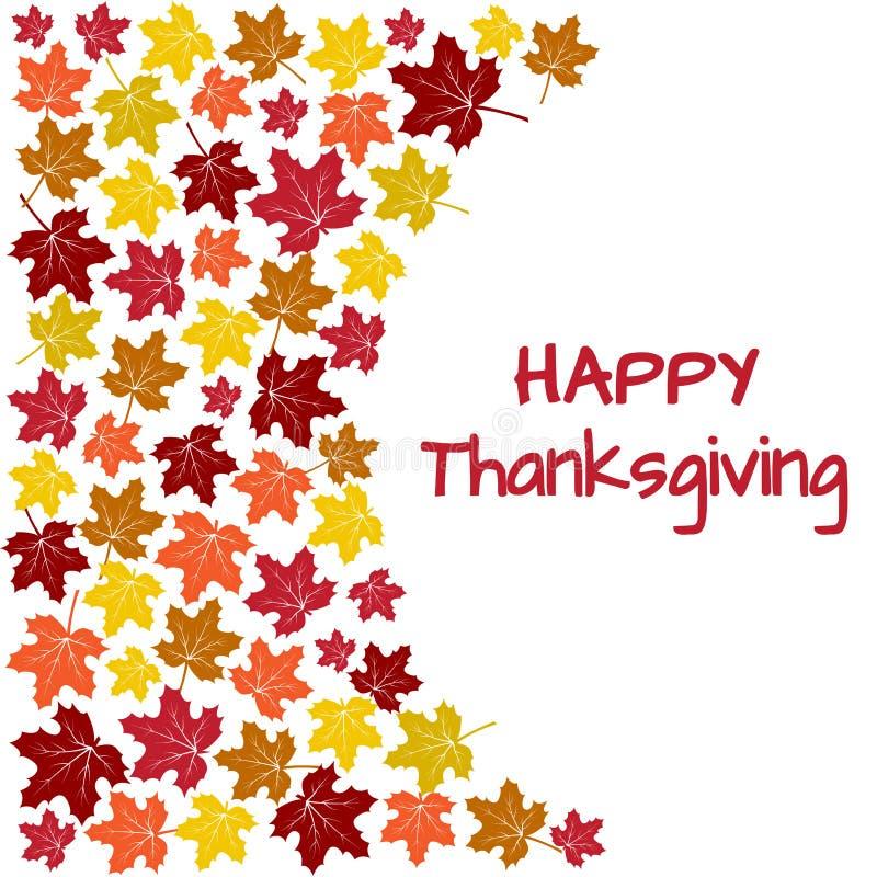 Fondo con las hojas de arce coloridas del otoño para el día de la acción de gracias Vector ilustración del vector