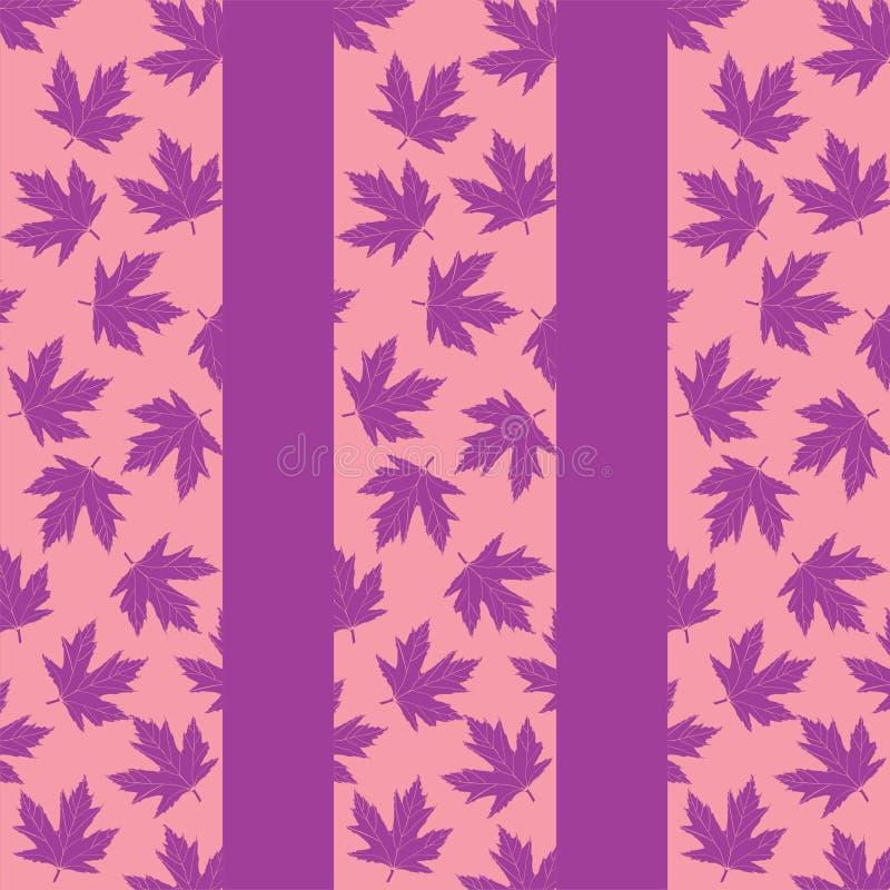 Fondo con las hojas de arce de la lila ilustración del vector