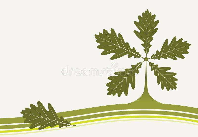 Fondo con las hojas del roble libre illustration