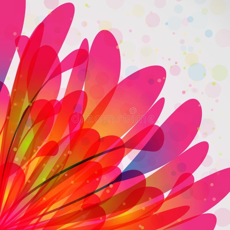 Fondo con las hojas y el polen stock de ilustración