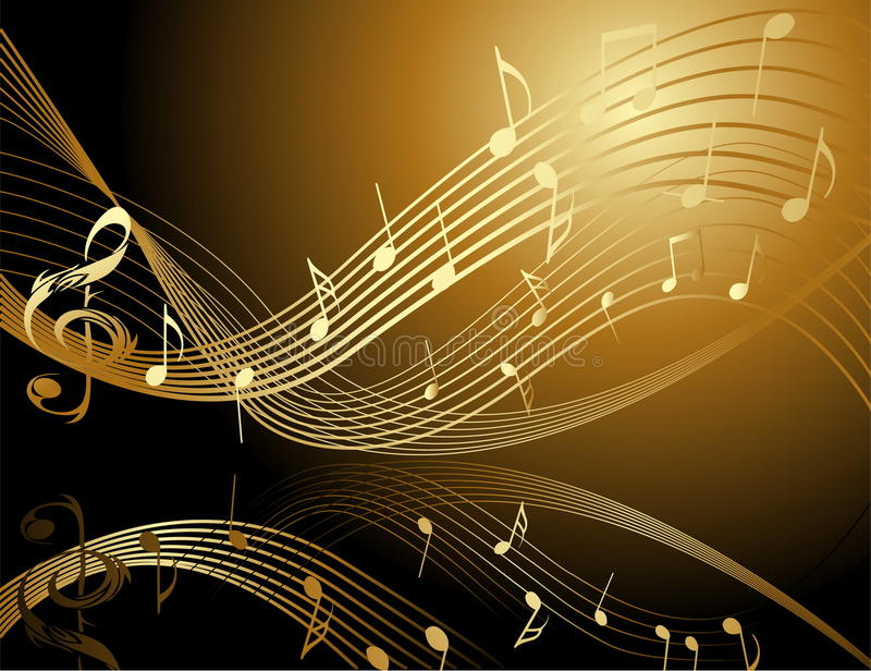 Fondo con las notas de la música ilustración del vector