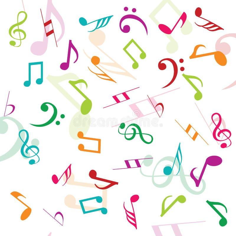 Fondo con las notas musicales libre illustration