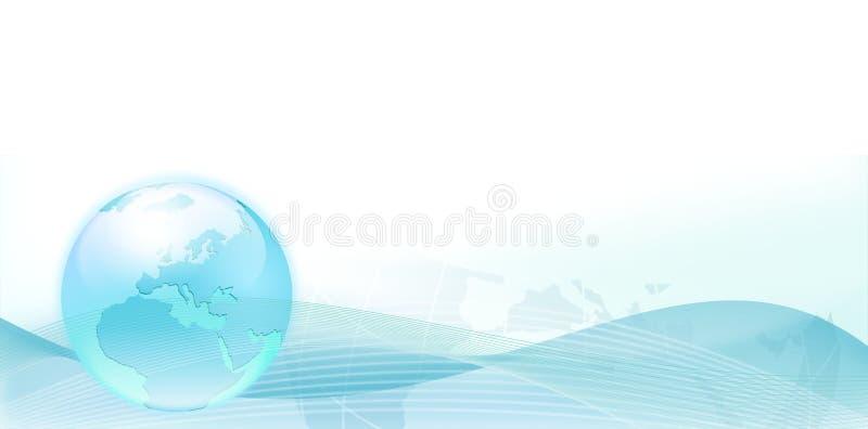 Fondo con las ondas azules de la tierra y del extracto libre illustration
