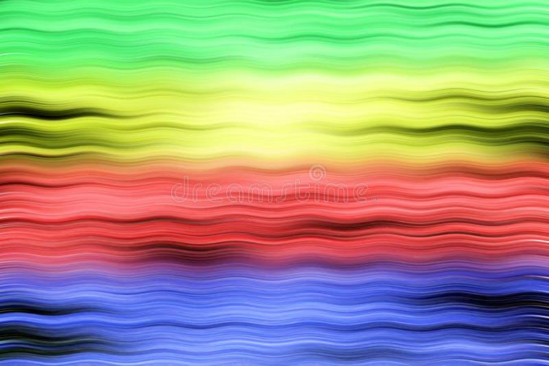 Fondo con las rayas coloreadas stock de ilustración