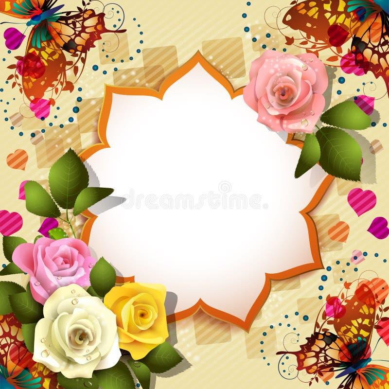 Fondo con las rosas ilustración del vector