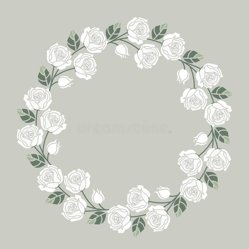 Download Fondo Con Las Rosas Blancas Ilustración del Vector - Ilustración de modelo, ramificación: 100529903