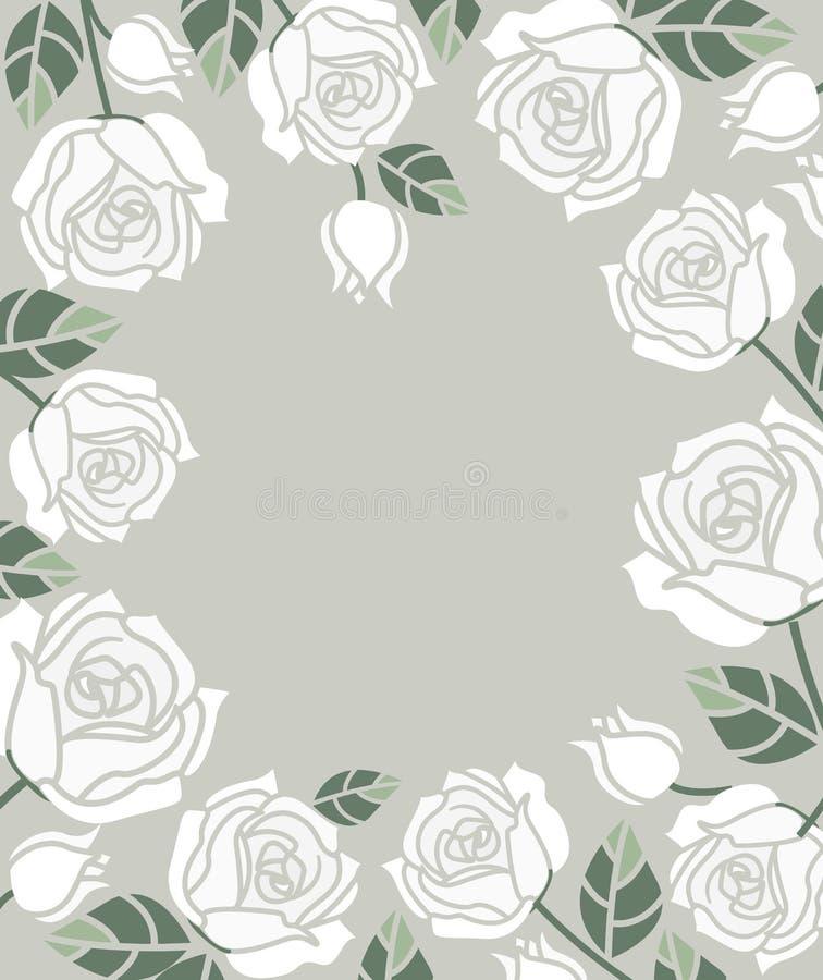 Download Fondo Con Las Rosas Blancas Ilustración del Vector - Ilustración de ramo, celebración: 100530148
