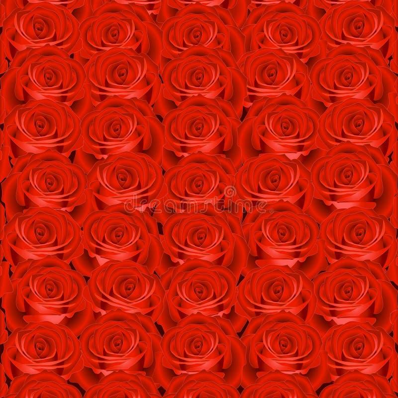 Fondo con las rosas rojas ilustración del vector