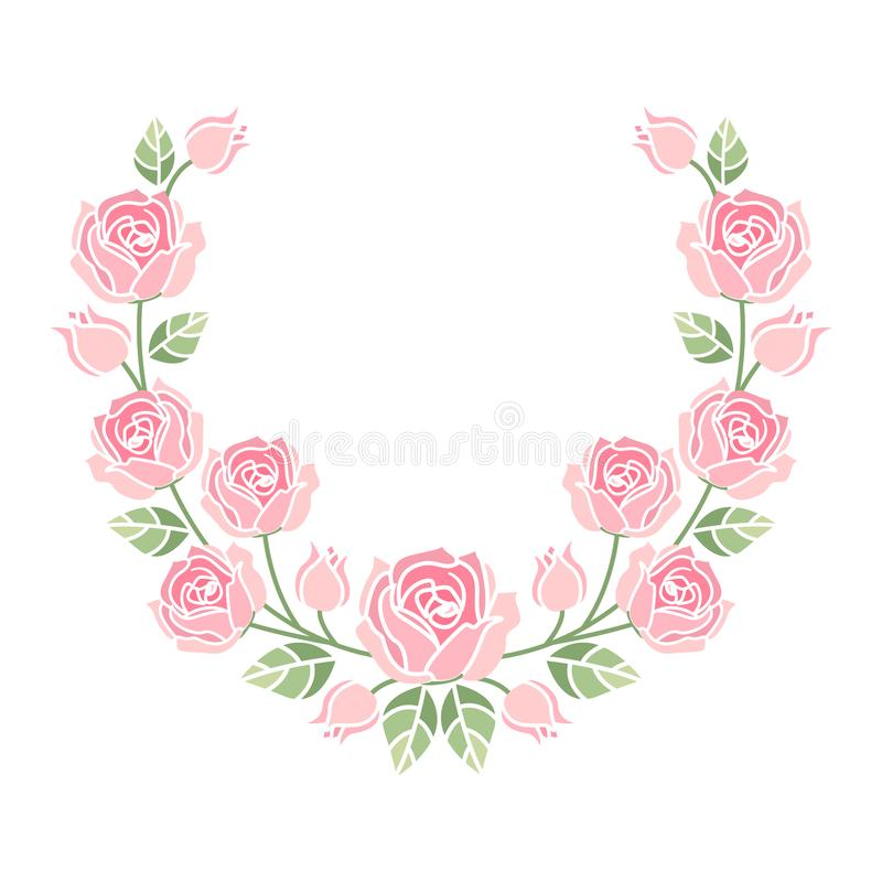 Download Fondo Con Las Rosas Rosadas Ilustración del Vector - Ilustración de saludo, ramo: 100530354