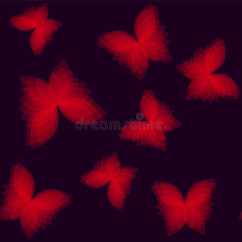 Fondo con le farfalle geometriche luminose illustrazione di stock
