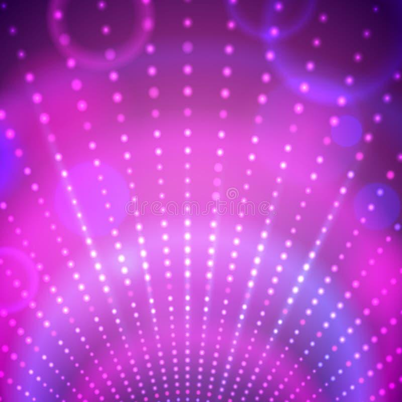 Fondo con le luci della discoteca illustrazione vettoriale
