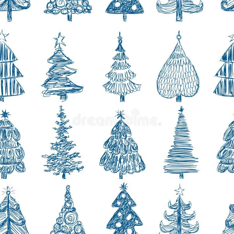 Fondo con los árboles de navidad del aa libre illustration