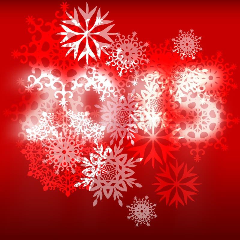 Fondo con los copos de nieve y los números 2015 libre illustration