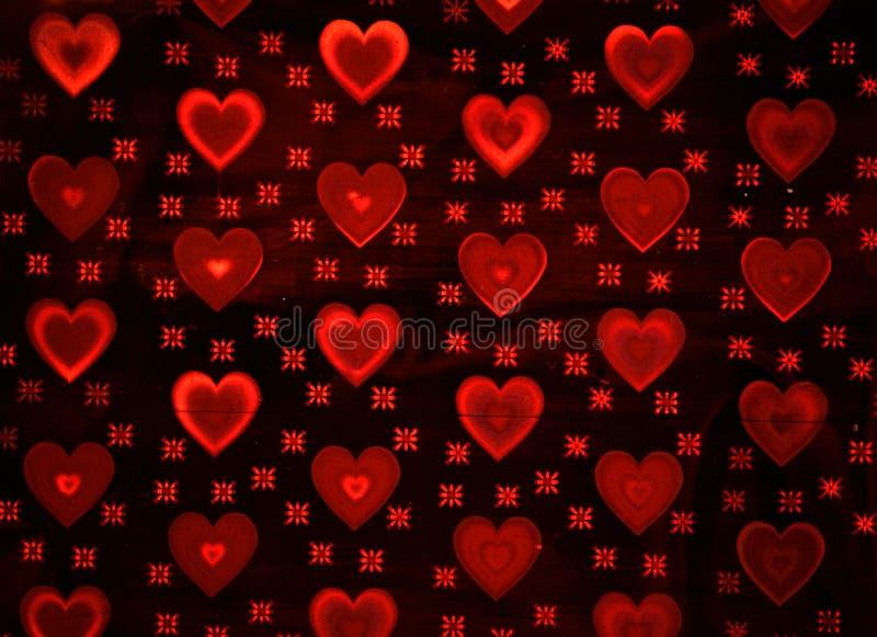 Fondo con los corazones rojos imágenes de archivo libres de regalías