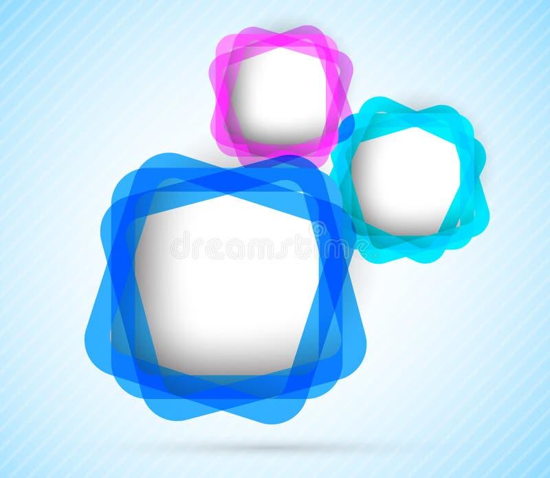 Fondo con los cuadrados ilustración del vector