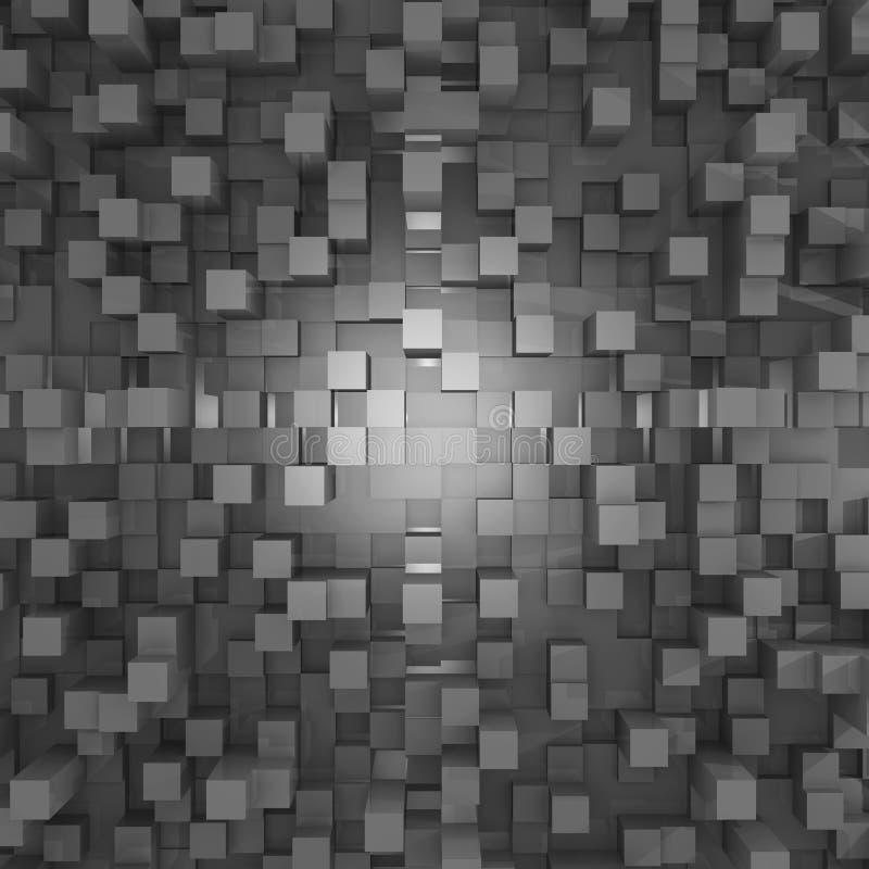 Fondo con los cubos ilustración del vector